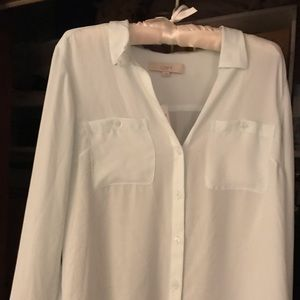 Beautiful loft mint green dress shirt brand new